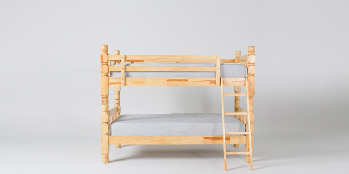 "42""w x 81""d Pine Twin Bunk Bed BED011044"
