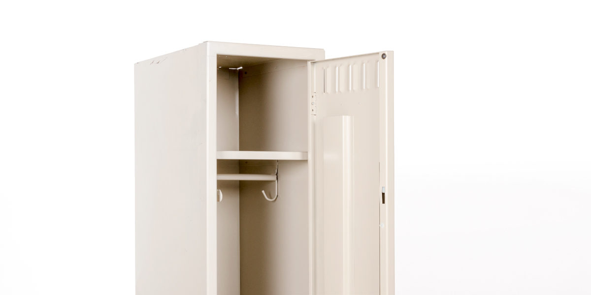 "12""w x 18""d Putty Single Individual Locker CAB010450"