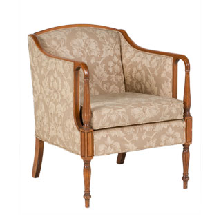 Beige Damask Sheraton Club Chair CHR000334