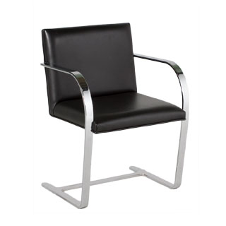 Black Leather Bruno Arm Chair CHR002328