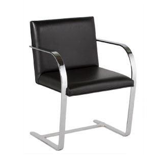 Black Leather Bruno Arm Chair CHR002328