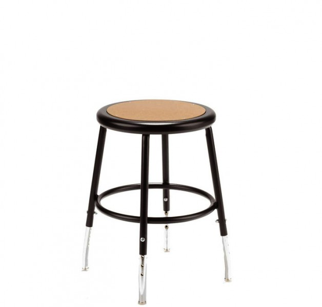 Dark Grey Metal Stool CHR002609