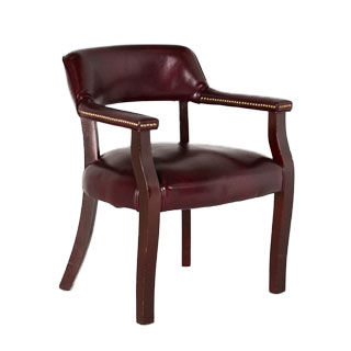 Oxblood Leather Captain's Guest Chair CHR003533