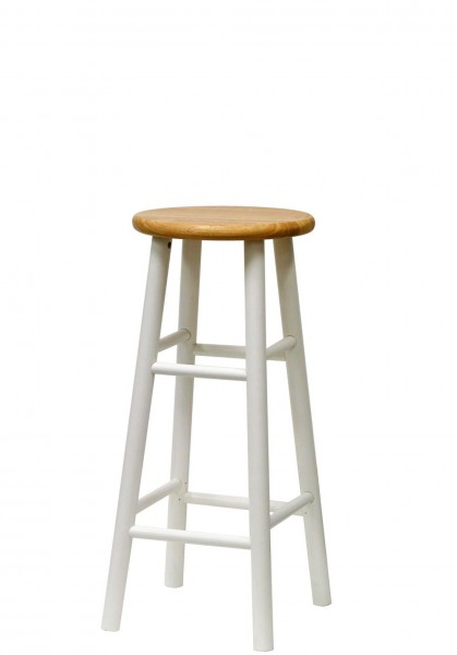 White Wooden Stool CHR003547