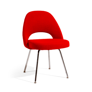 Red Fabric Saarinen Dining Chair CHR005729