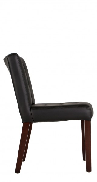 Quilted Black Vinyl Side Chair CHR007256