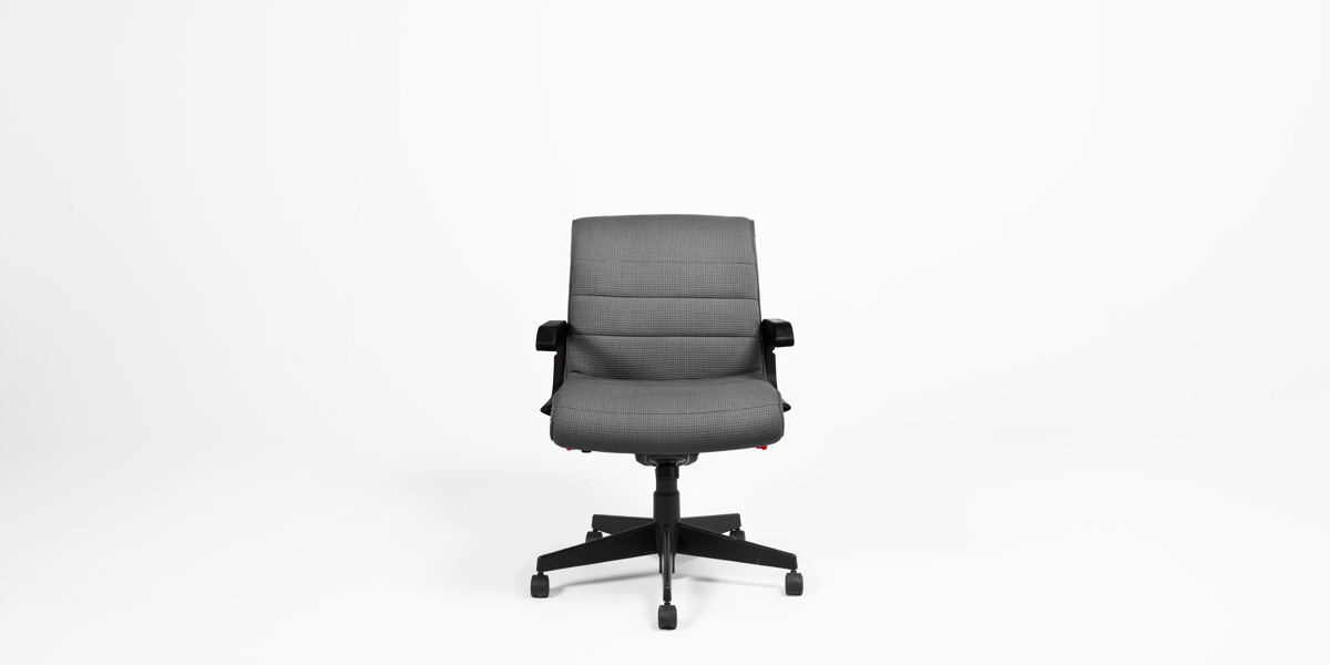 Dark Grey Fabric Sapper Mid-Back Office Chair CHR007700