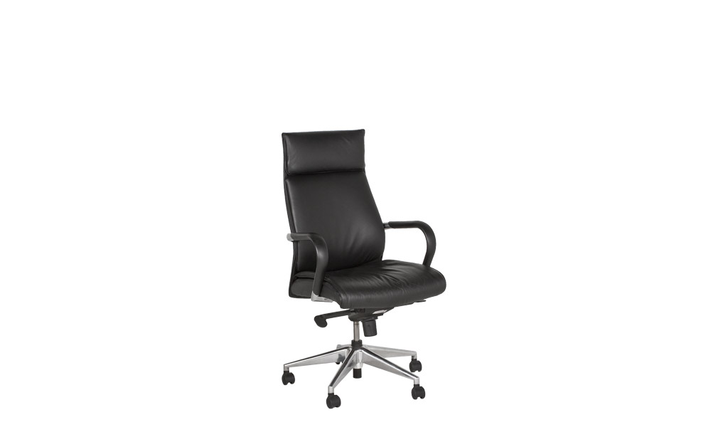 Black Leather Executive Hi-Back Conference Chair CHR009866