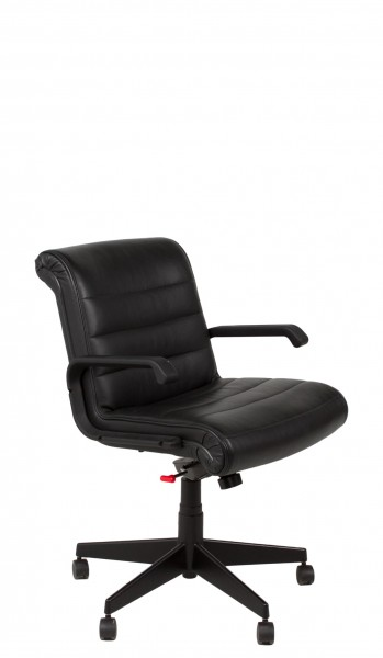 Black Leather Sapper Mid-Back Office Chair CHR010377