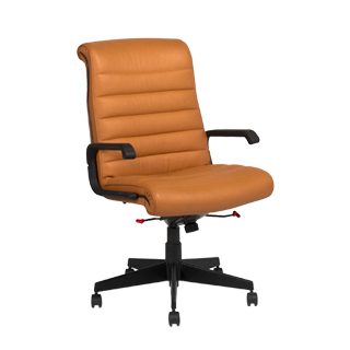Saddle Brown Leather Sapper Executive High-Back Chair CHR010379