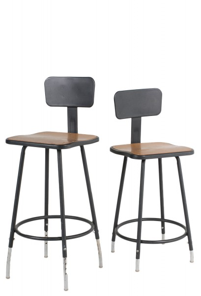 Dark Grey Metal Vintage Stool CHR010808