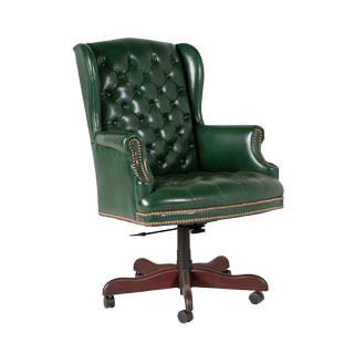 Green Vinyl Executive Hi-Back Chair CHR011262