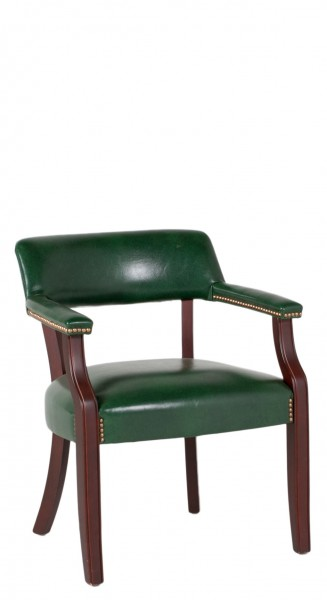 Green Vinyl Captain's Guest Chair CHR011263