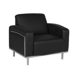 Black Leather Club Chair CHR011668
