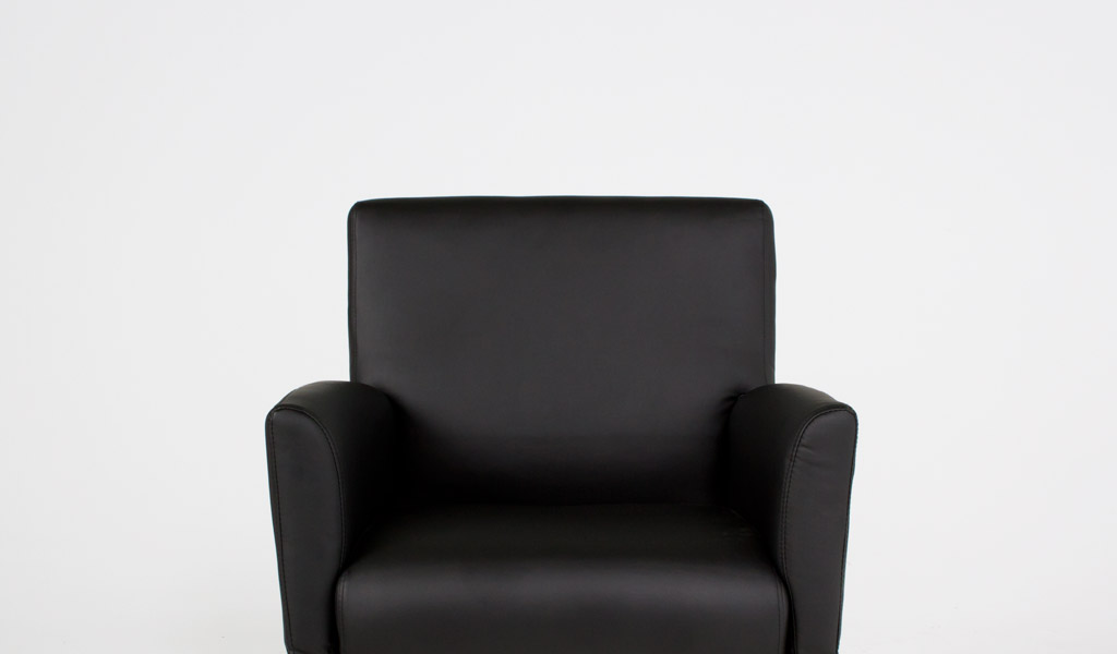 Black Vinyl Guest Chair CHR011778