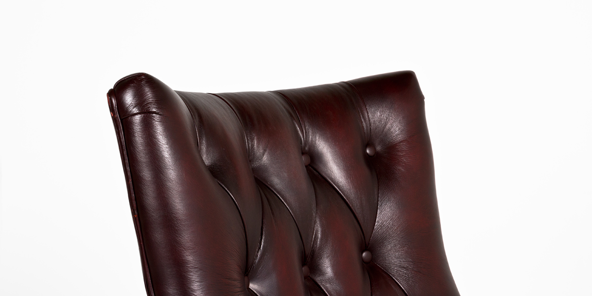 Tufted Oxblood Leather Executive Hi-Back Chair CHR012015