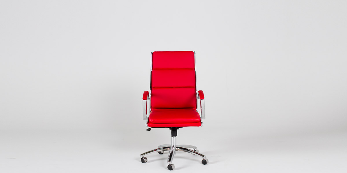 Red Leather Executive Hi-Back Office Chair CHR012413