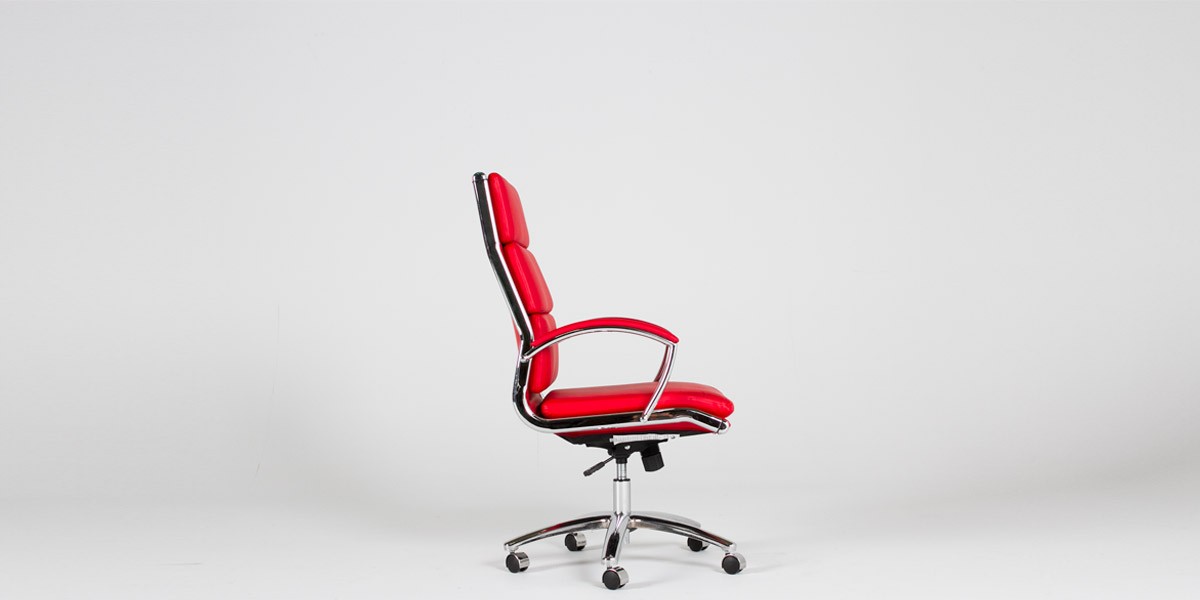 Red Leather Executive High-Back Office Chair CHR012413