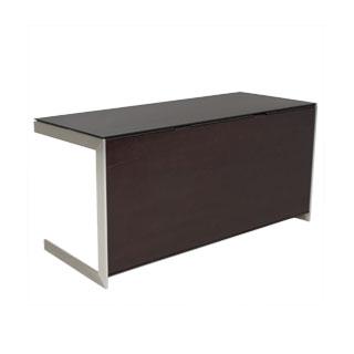 "60""w x 24""d Dark Walnut Modern Computer Desk DSK011739"