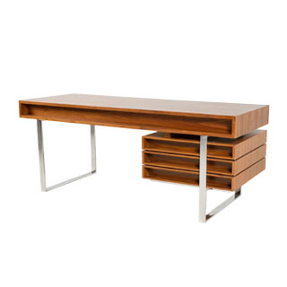 "78""w x 31''d Walnut Cliff Young Desk DSK012107"