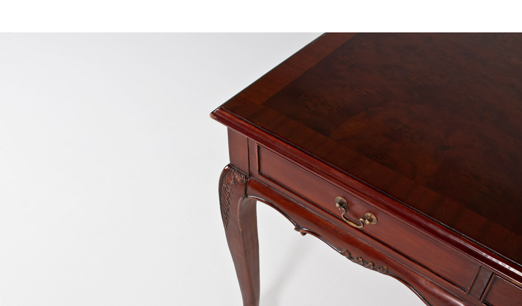 """60""""w x 36""""d Traditional Mahogany Table Desk DSK012207"""