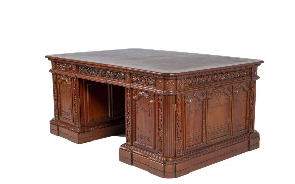 "72""w x 48""d Walnut Presidential Desk DSK012482"