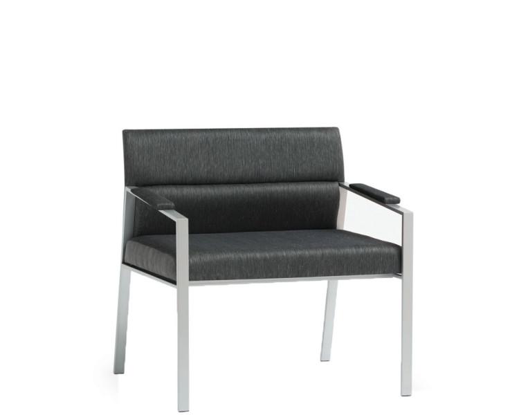 46.5''w x 23.5''d Grey Fabric Loveseat LVS012129
