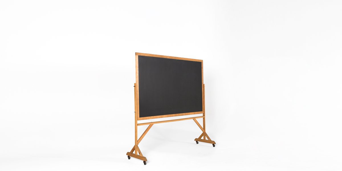 "74""w x 77.5""h Natural Wood Blackboard MIS006380"