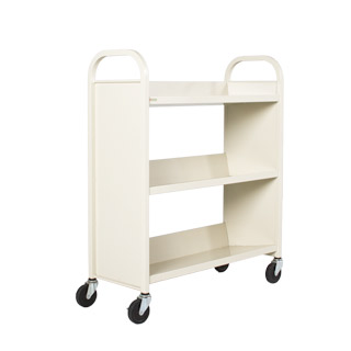 "36""w x 14""d Putty Metal Book Cart MIS012438"