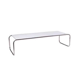 49''w x 18''d White Laminate Coffee Table TBL000914