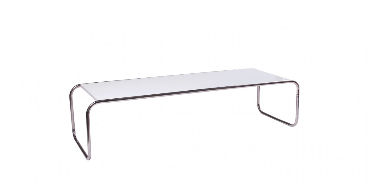 49''w x 18''d White Laminate Coffee Table TBL014444