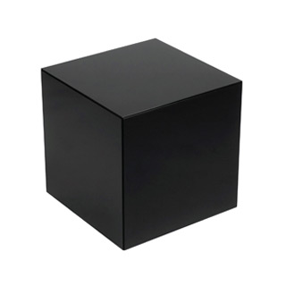 "18""w x 18""d Black Laminate Cube Side Table TBL003046"