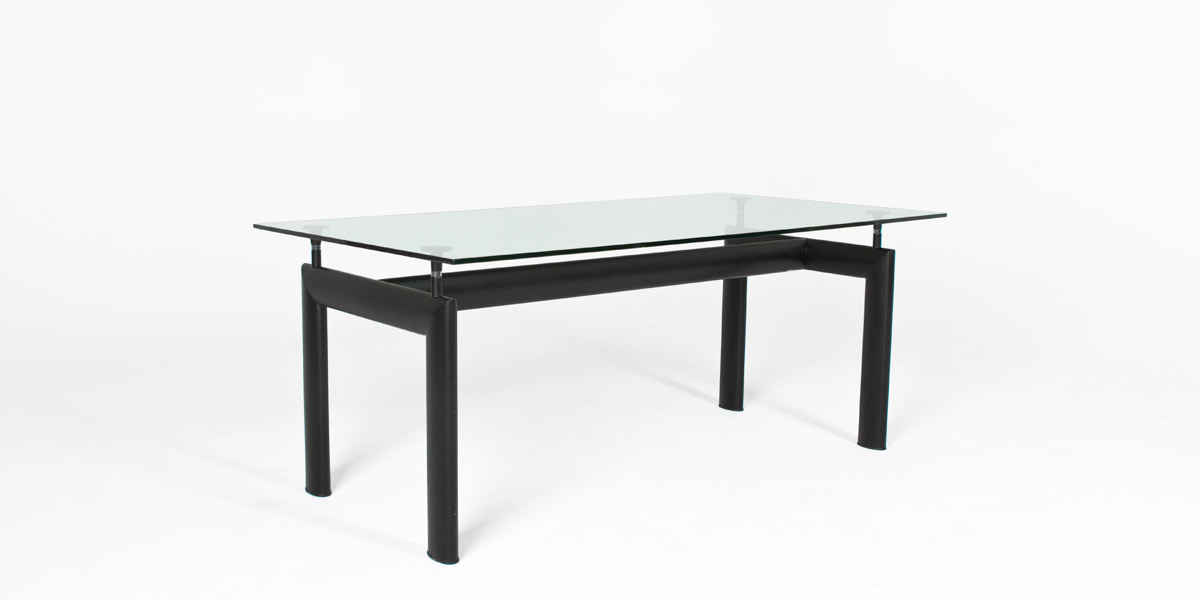 "72""w x 36""d Glass Corbusier Dining Table TBL004377"