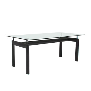 72 w x 36 d glass corbusier dining table tbl004377 for Dining room tables 36 x 72