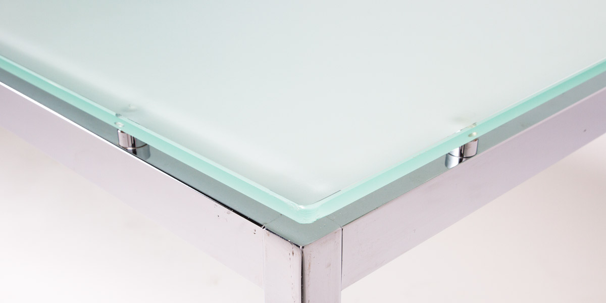63''w x 31.5''d Frosted Glass Table TBL005745
