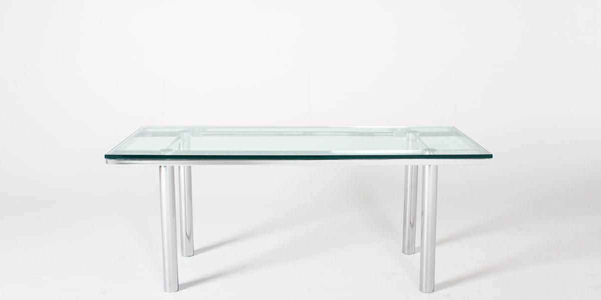 "70.5""w x 30.5""d Glass Stresa Table TBL007294"