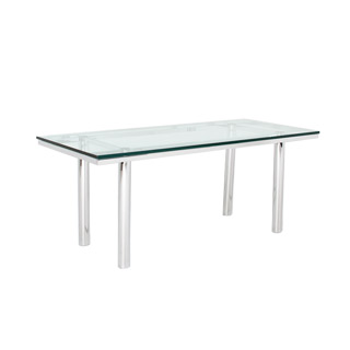 70.5''w x 30.5''d Glass Stresa Table TBL007294