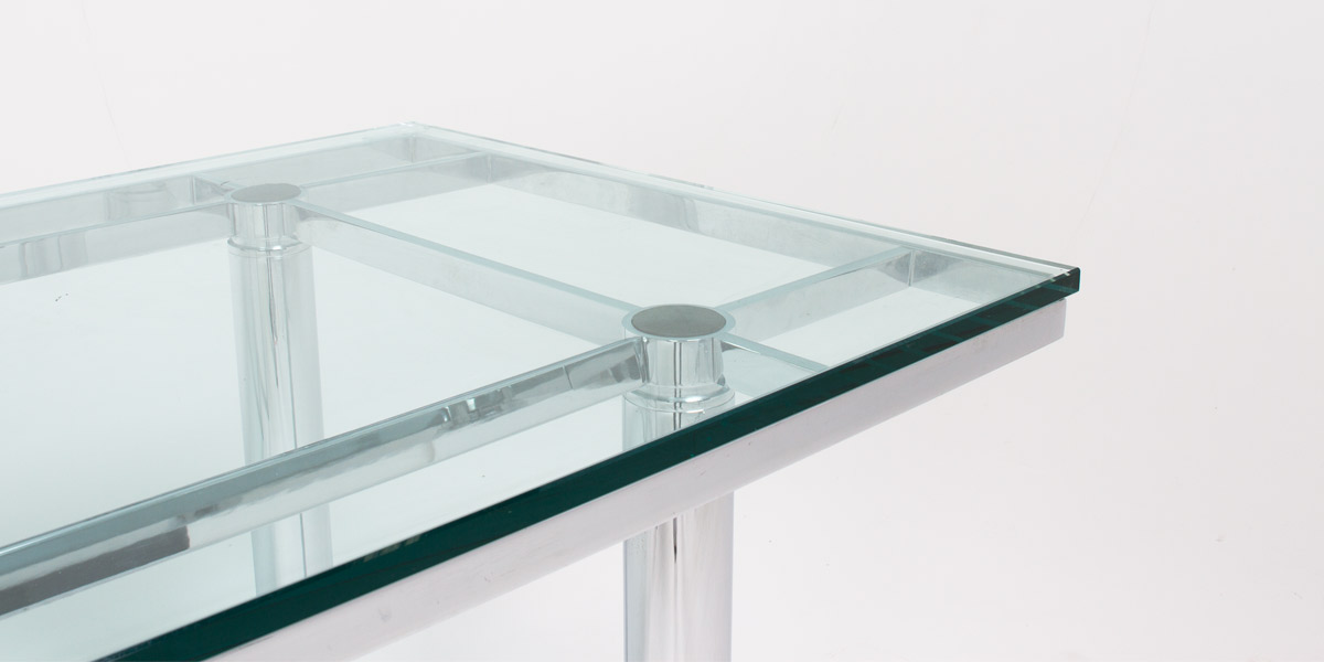 "70.5""w x 30.5""d Glass Stresa Table TBL007294"