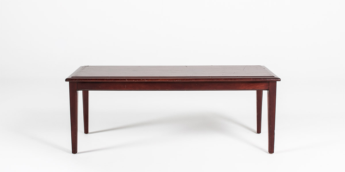 48 W X 18 D Mahogany Coffee Table Tbl010316 Arenson Office Furnishings