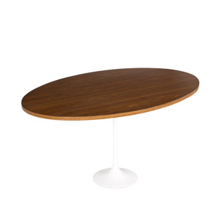 "42""dia Wood Saarinen Oval Coffee Table TBL011256"