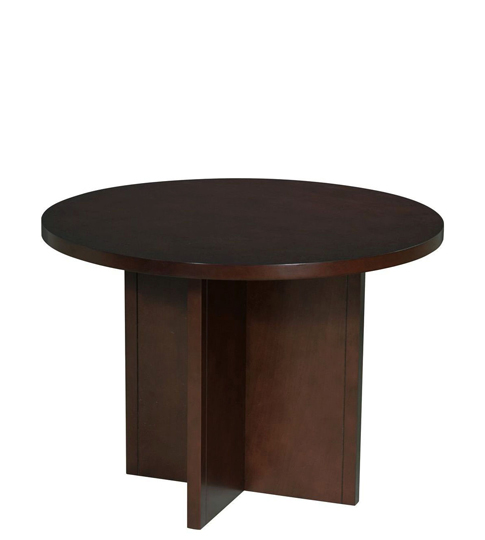 "42""dia Dark Cherry Round Conference Table TBR007162"