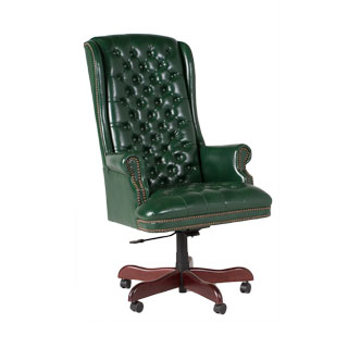 Green Vinyl Executive Hi-Back Chair TRD007189