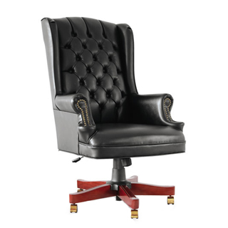 Black Vinyl Executive Hi-Back Swivel Chair TRD012165