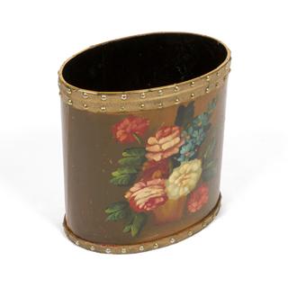 """12""""h Floral Waste Basket ACC001205"""