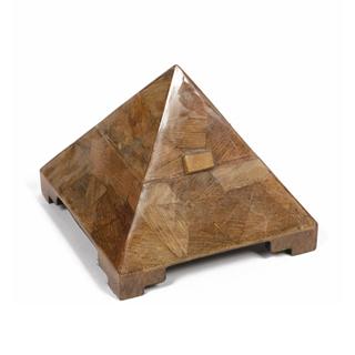 "8""h Wood Pyramid Box ACC001445"
