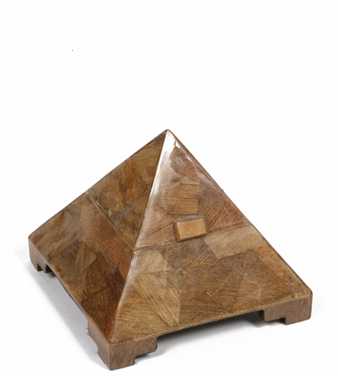 "8""h Wood Pyramid Box ACC001445"