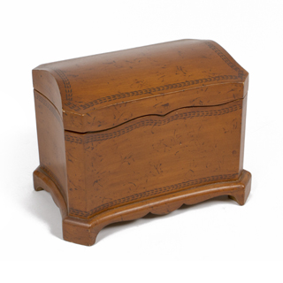 "11""h Dark Mahogany Box ACC004461"