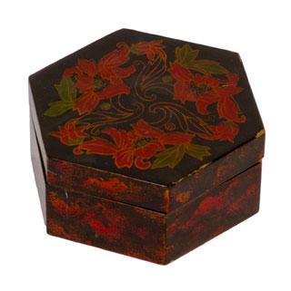 """2.5""""h Dark Mahogany Jewelry Box ACC012226"""