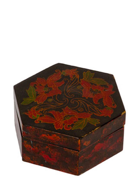 "2.5""h Dark Mahogany Jewelry Box ACC012226"