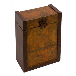 "15""h Wooden Wine Box ACC001606"